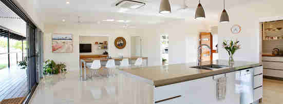 new home open plan kitchen living area forrest building co darwin nt